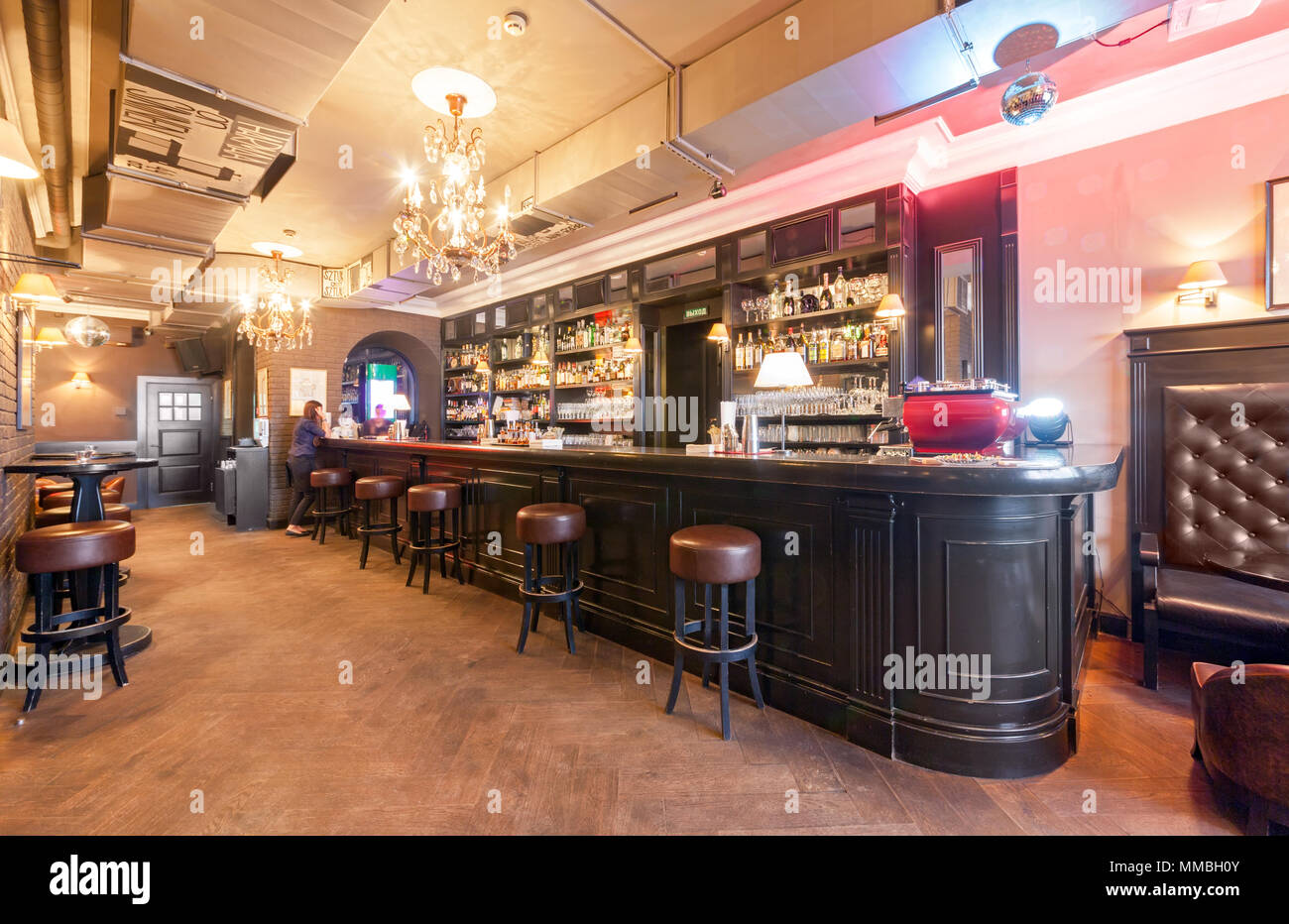 MOSCOW - AUGUST 2014: Interior of a small \