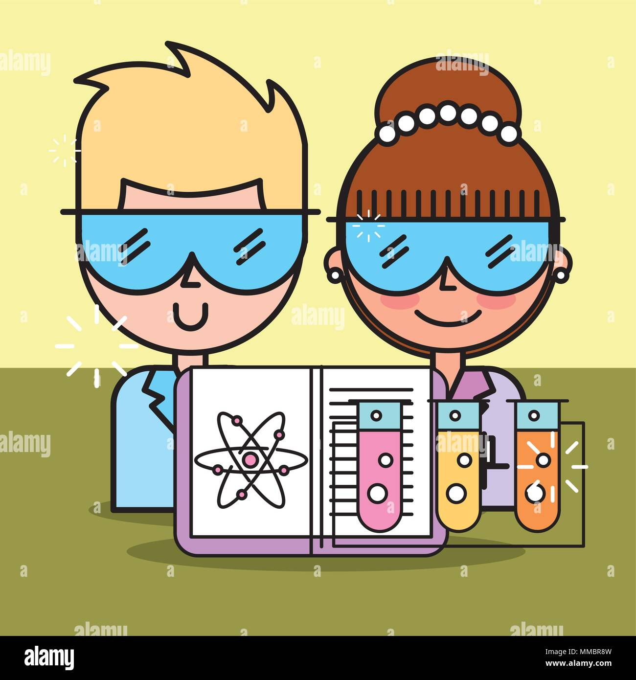 science laboratory research - Stock Vector