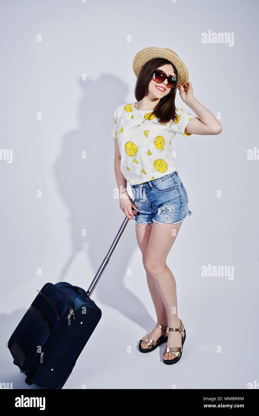 0db92f69563 Girl tourist with bag