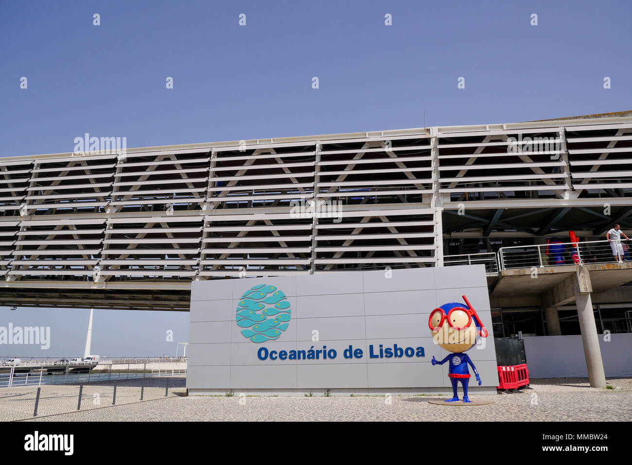 Mascot of Lisbon Oceanarium, Park of the Nations, Lisbon, Portugal Stock Photo