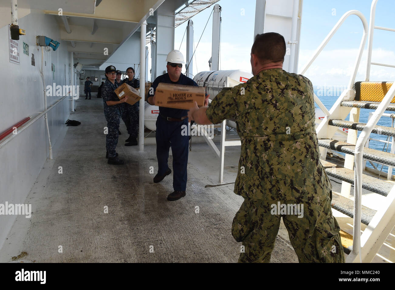 Two Tenders Stock Photos Images Alamy 1009 Military Wiring Harness Diagram 171009 N Pg340 258 Caribbean Sea Oct 9 2017
