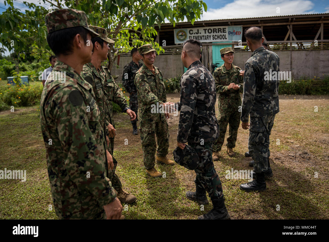 Philippine Navy and Japan Ground Self-Defense Force members