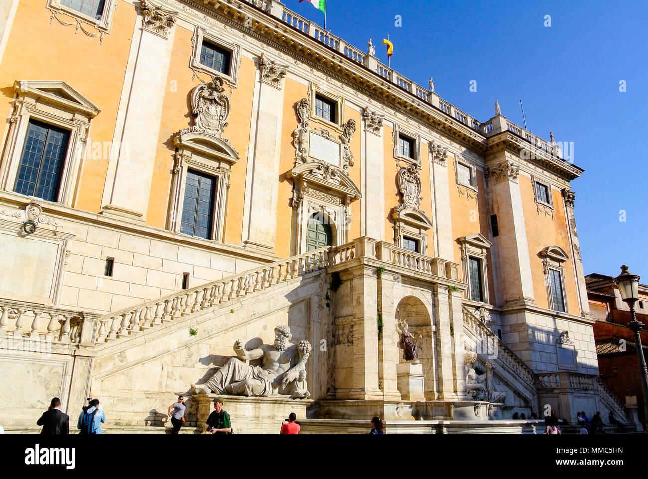 palazzo senatorio, rome, italy - Stock Image