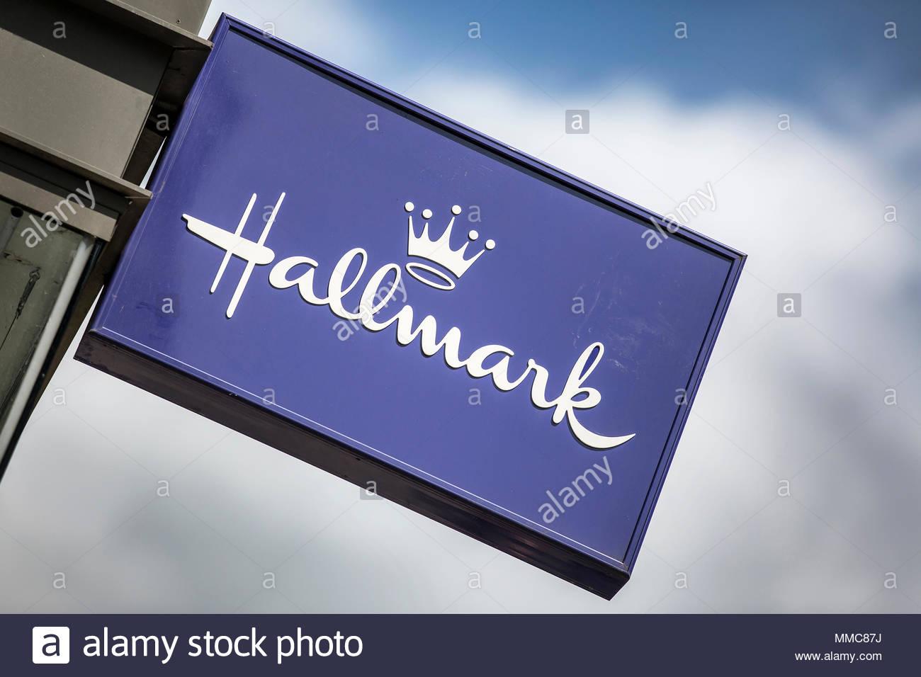 Greeting card shops stock photos greeting card shops stock images hallmark shop in leeds stock image m4hsunfo