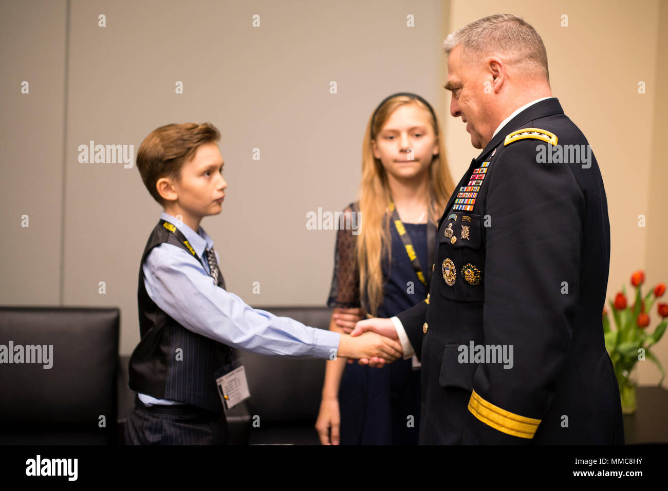 U S  Army Chief of Staff Gen  Mark A  Milley meets the Army Family