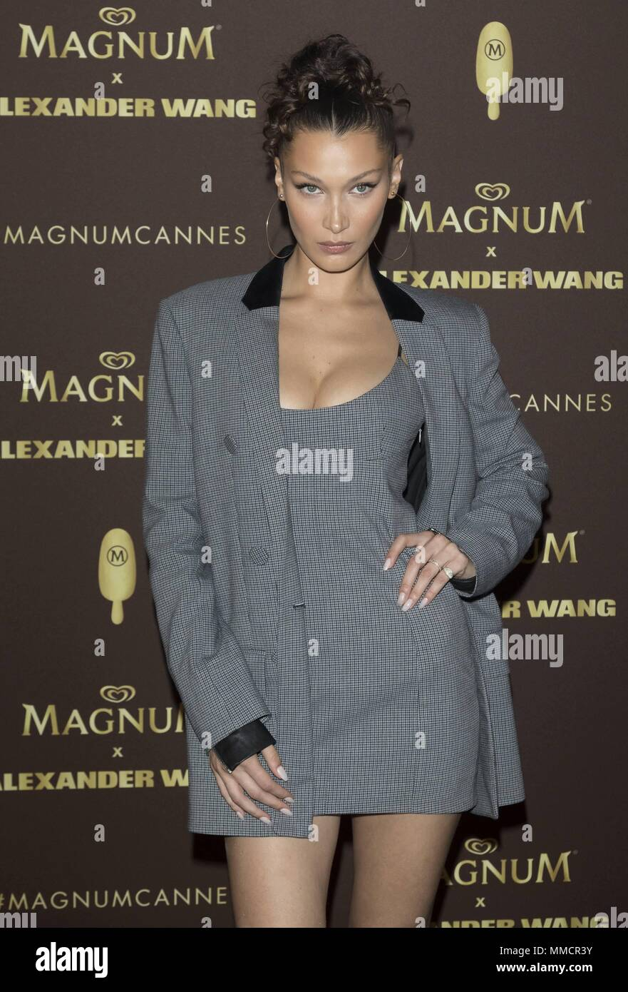 8d4e136c35a5 Bella Hadid attends the party of 'Magnum X Alexander Wang' during the 71st  Cannes Film Festival at L'Ondine Beach in Cannes, France, on 10 May 2018.
