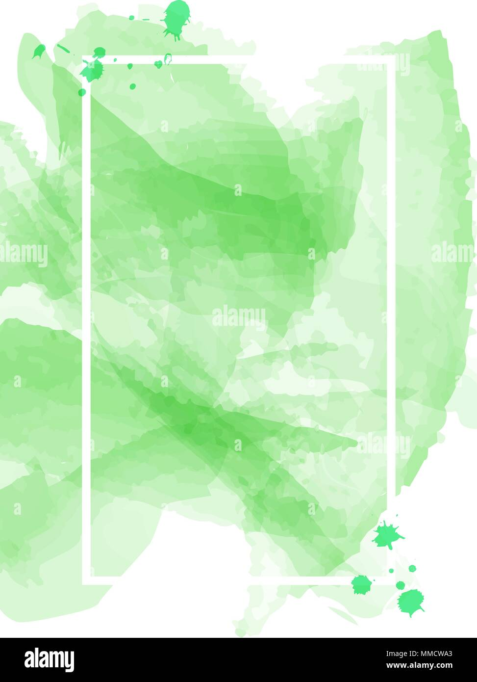 Green Watercolor Abstract Blank Poster Template Background Texture