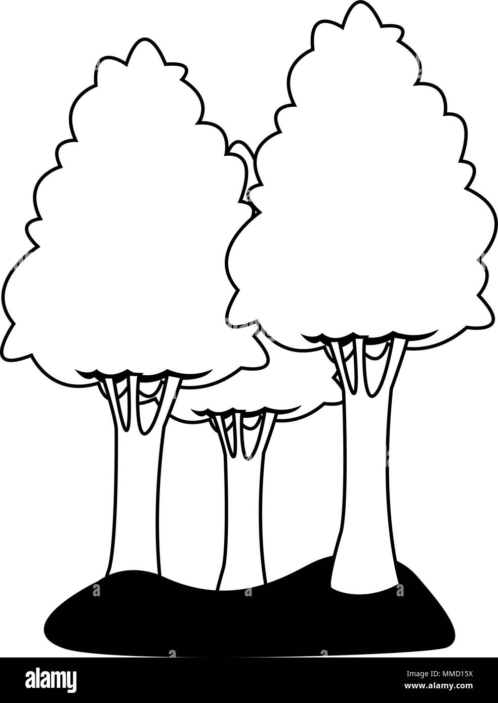 Cartoon Trees Black And White Stock Photos Images Alamy