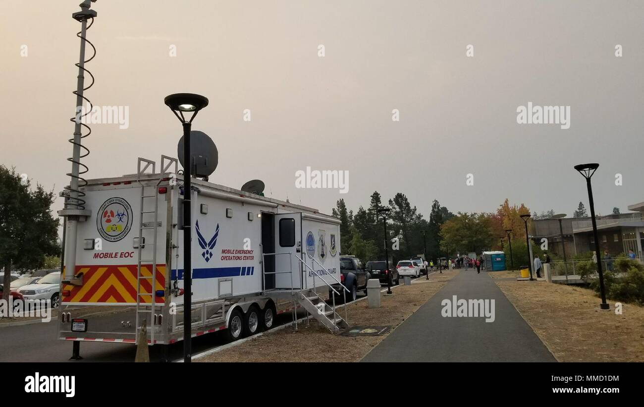 A Mobile Emergency Operations Center (MEOC) from the