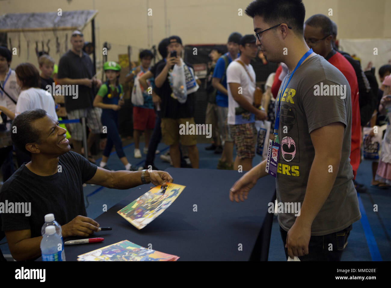 Camp Foster Okinawa Japan Phil Lamarr Autographs A Poster During