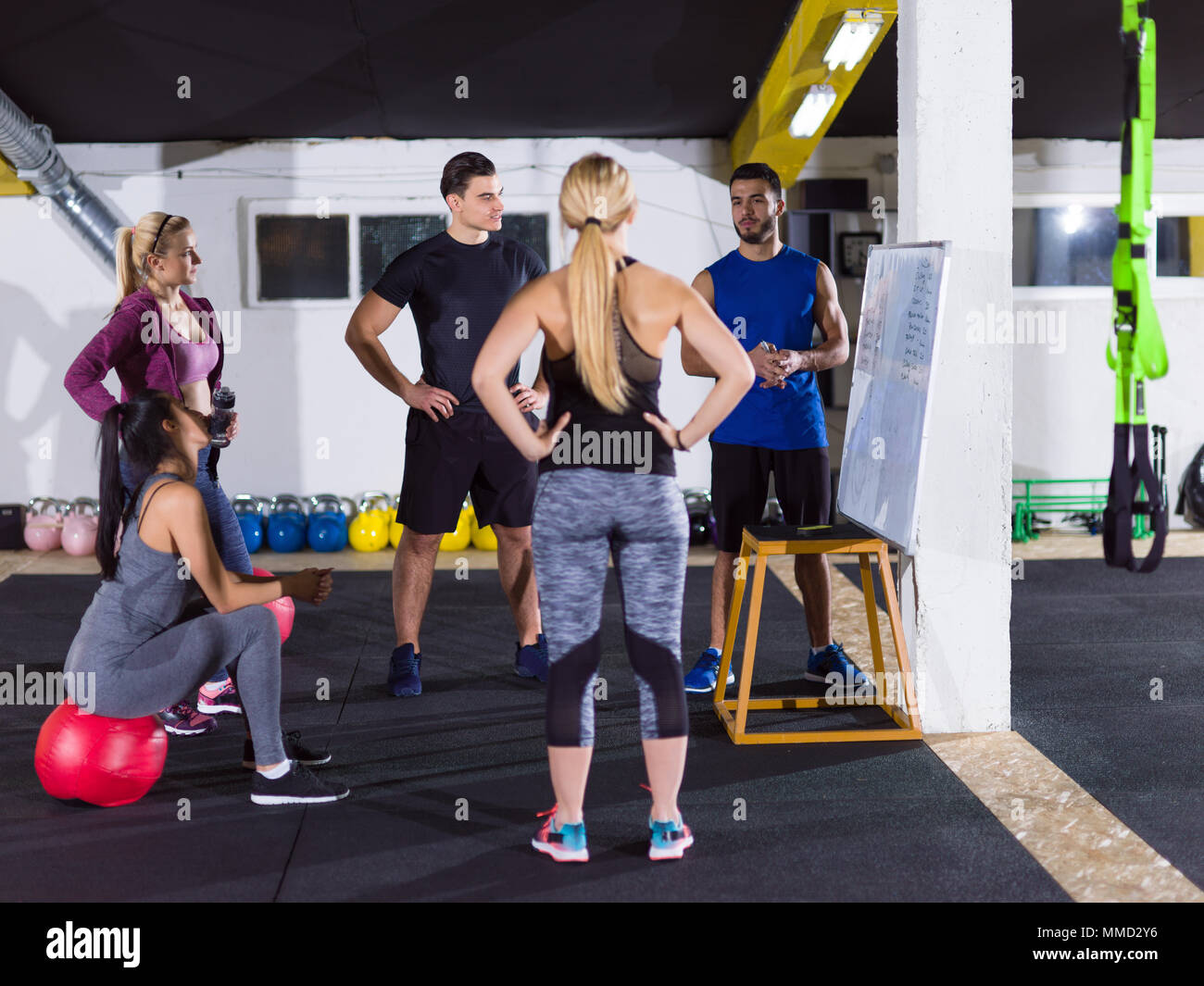 Crossfit Training Courseoup Of Young Athletes Getting