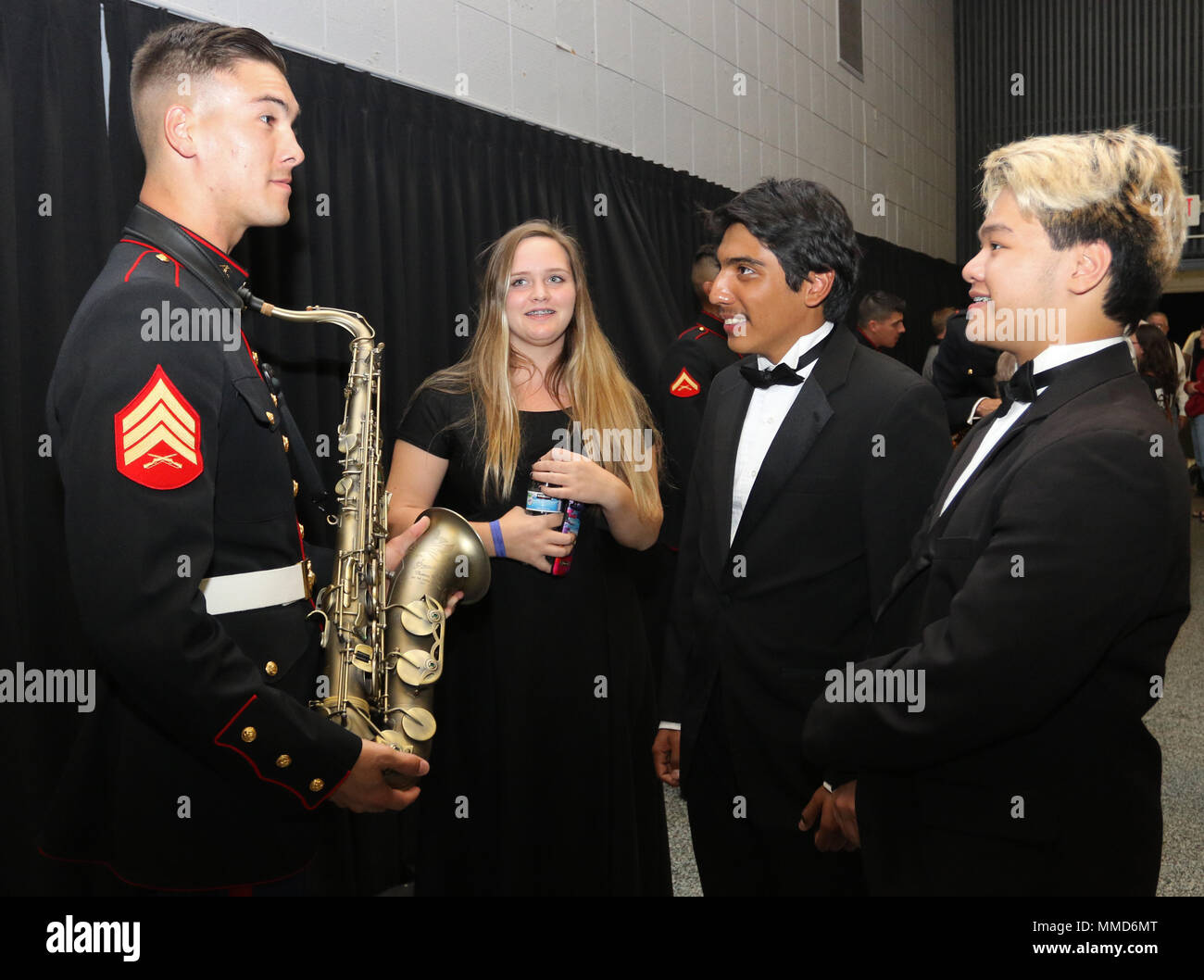 Sgt  Spencer Day, a saxophone instrumentalist with the