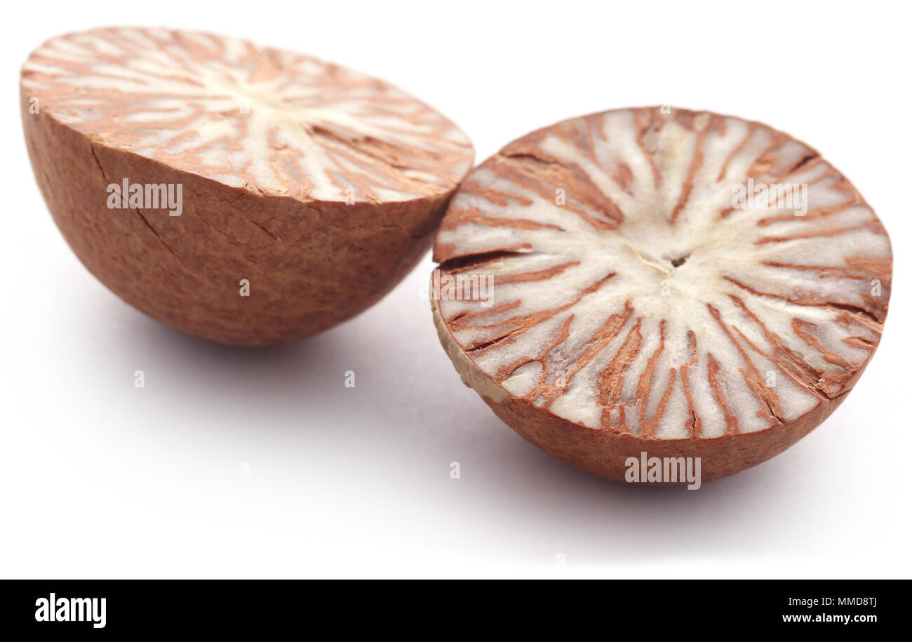 Betel nut over white background Stock Photo