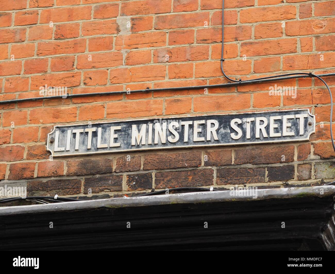 Little Minster Street Sign in Winchester - Stock Image