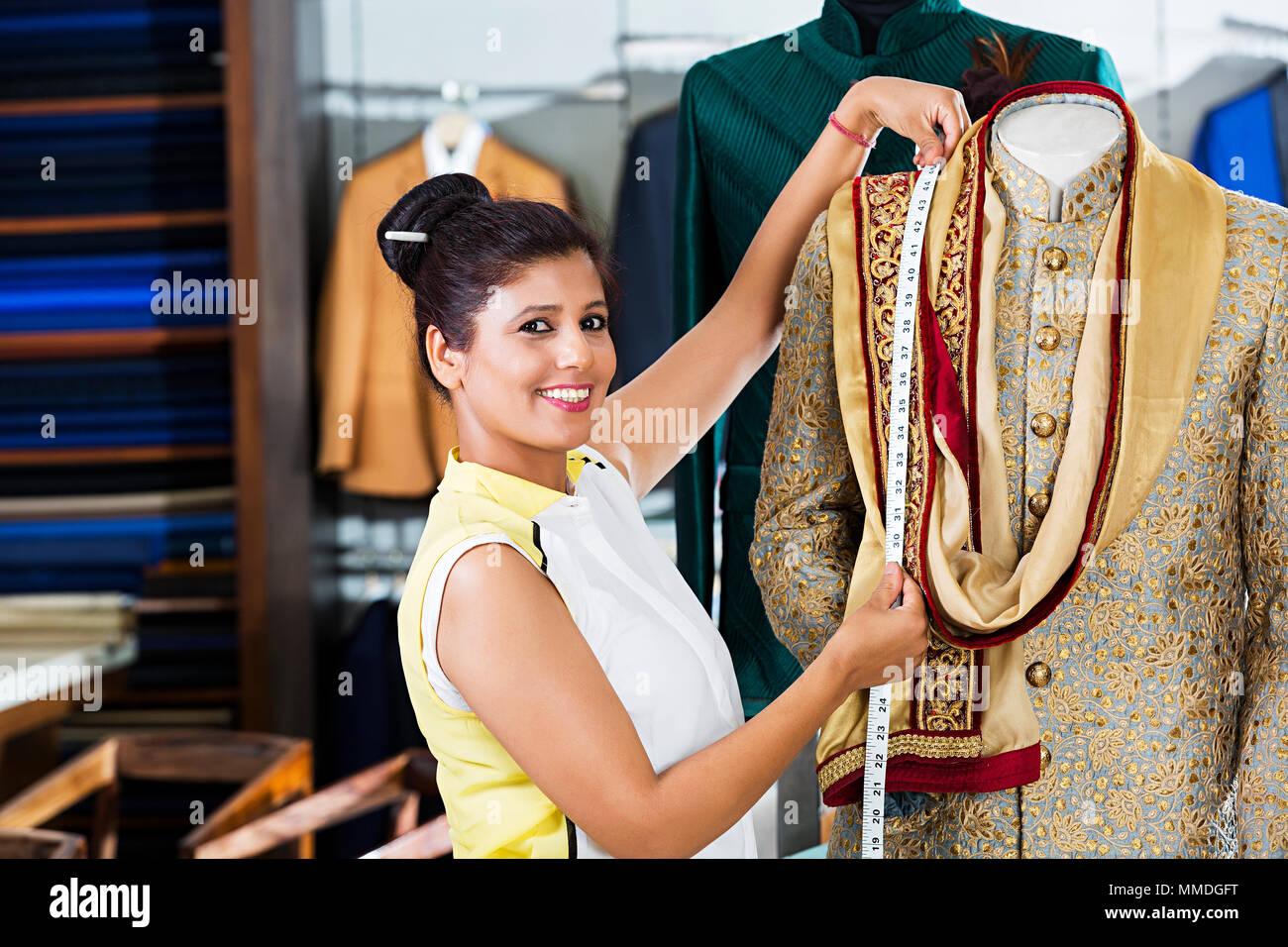 One Boutique Female Tailor Dress Designer Tape Measuring Sherwani Clothe Shop