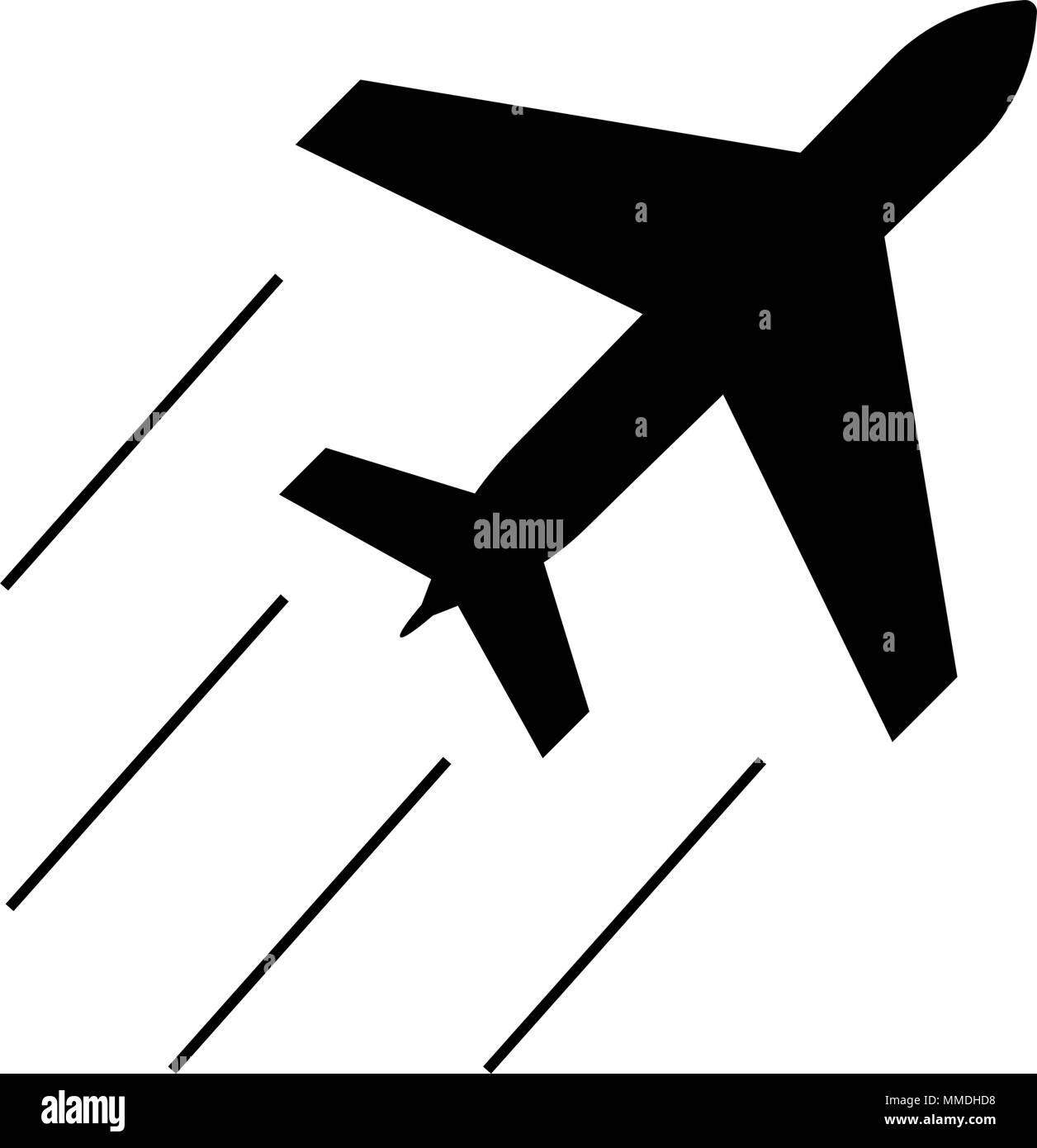 Simple Airplane Icon Aeroplane Silhouette Sign Illustration Stock