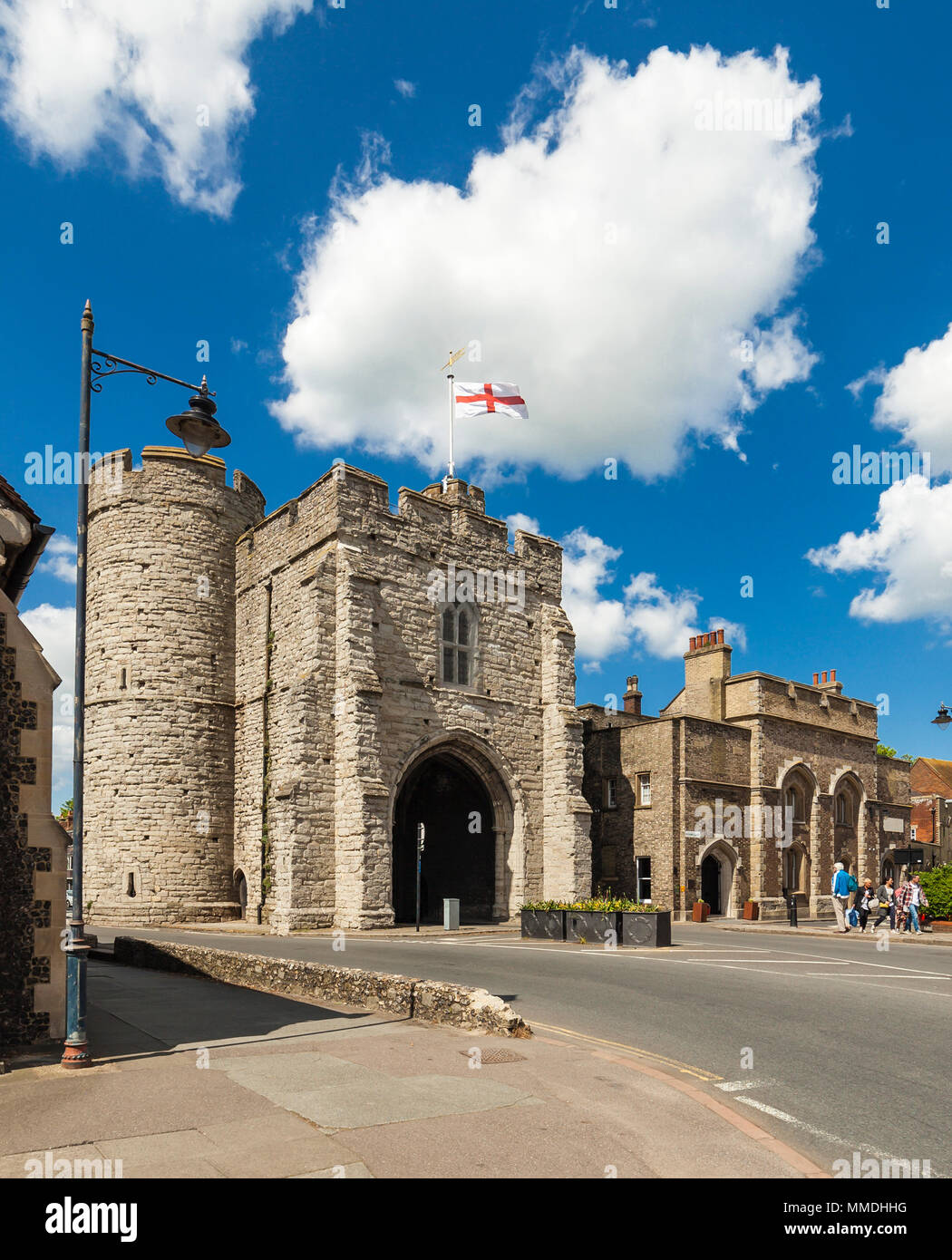 Westgate Towers and the Pound, Canterbury, Kent. - Stock Image