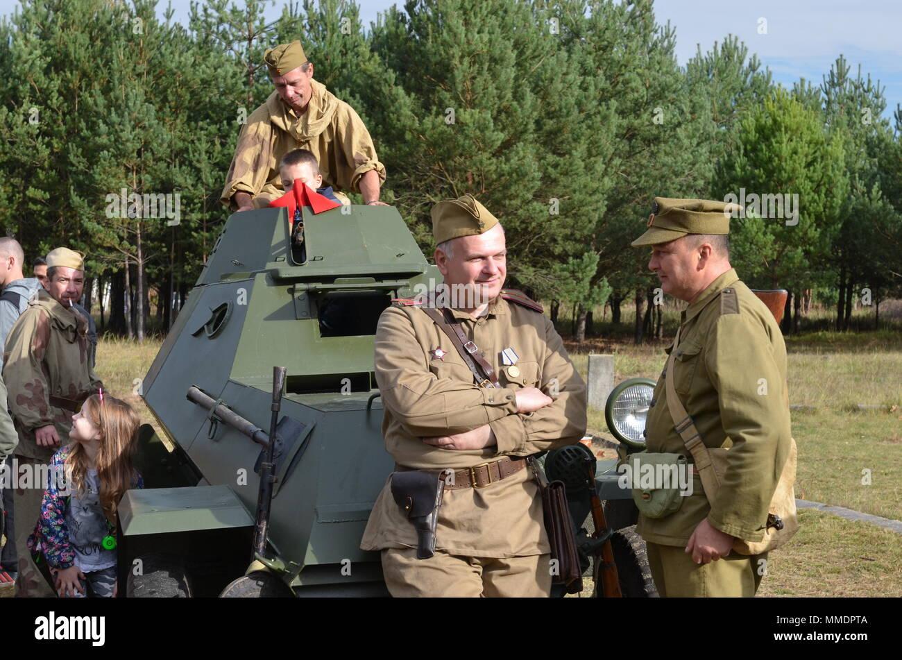ZAGAN, Poland — Volunteers and historical reenactors from