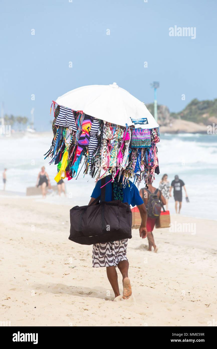 As a travel photographer. Images of my time spent in Copacabana Beach, Rio de Janeiro Stock Photo