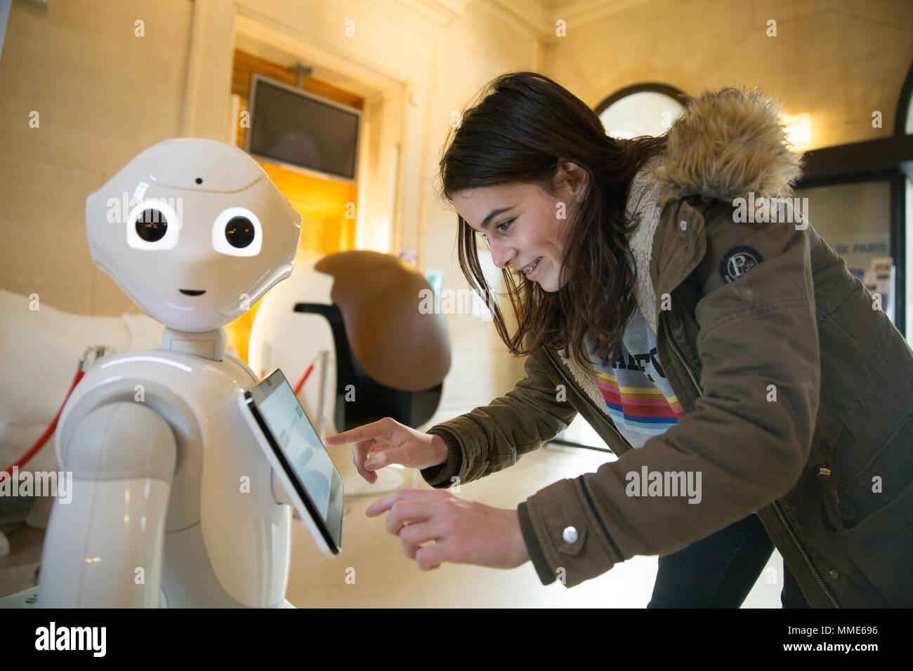 PEPPER ROBOT - Stock Image