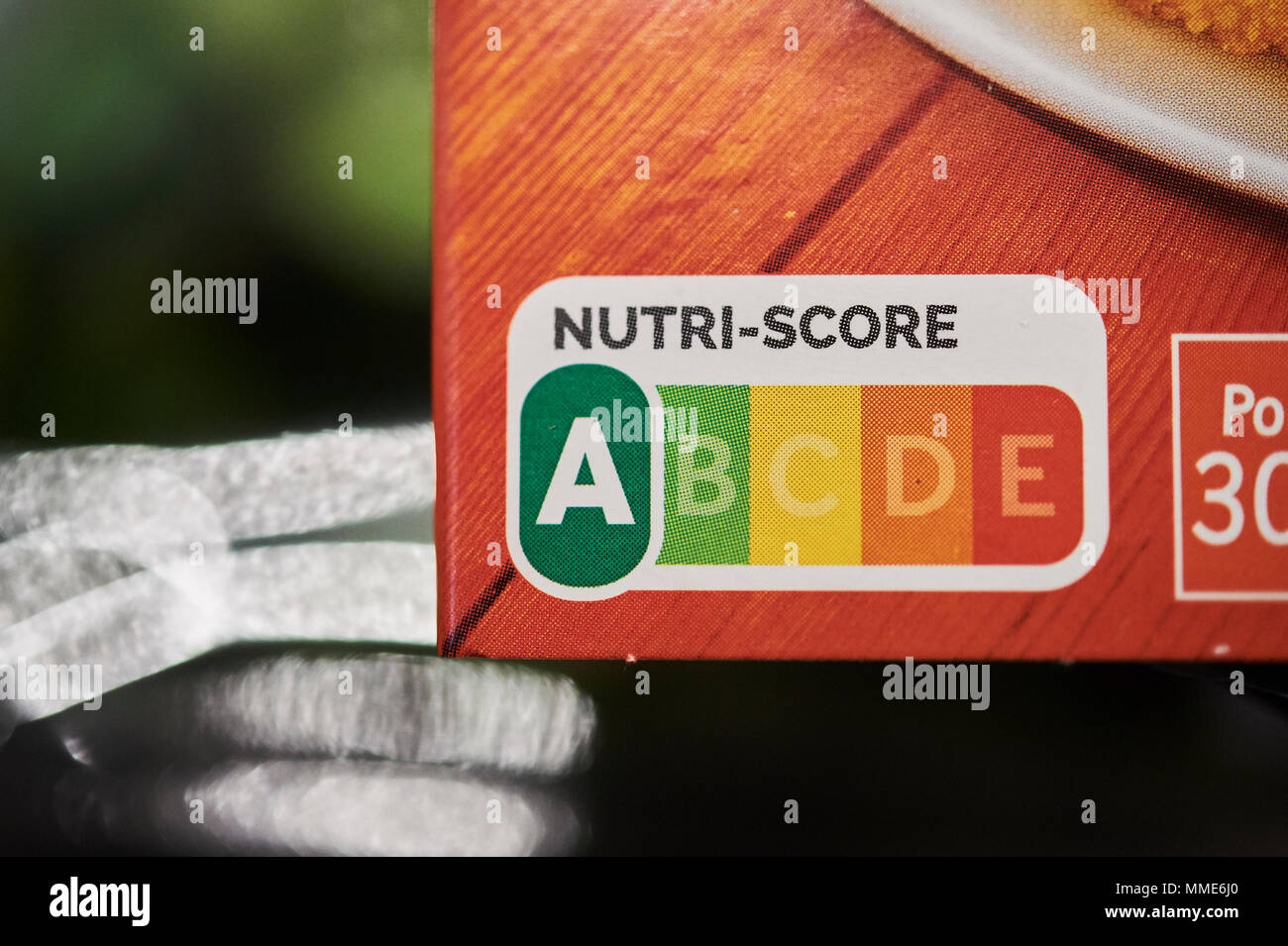 FOOD LABELLING - Stock Image