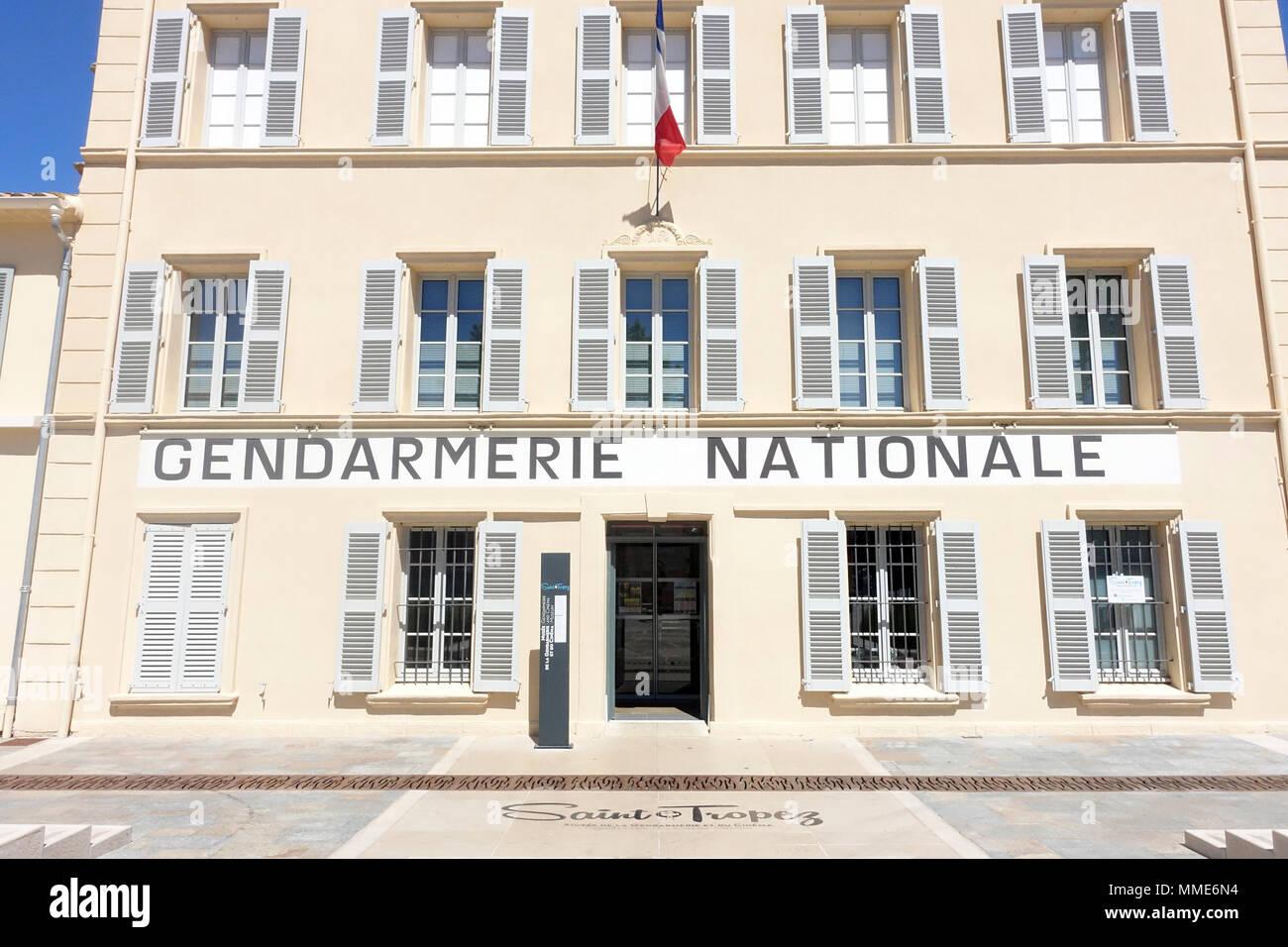 Gendarmerie Nationale of Saint-Tropez. - Stock Image