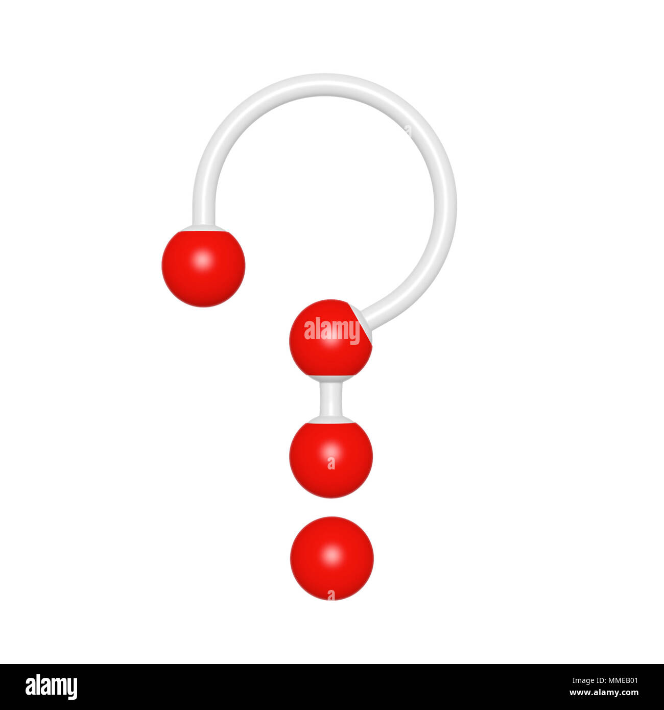 Molecule Structure Like Question Mark On White Background 3d