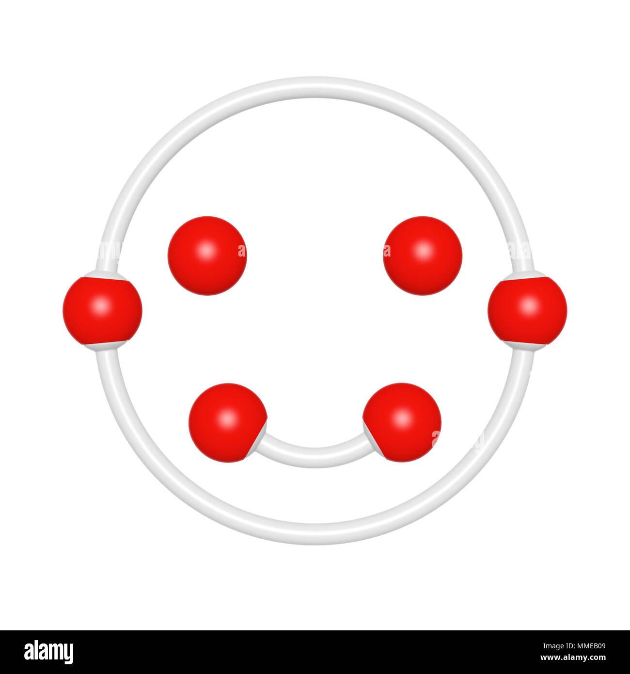 Molecule Structure Like Happy Emoji Emoticon For Font Set On White