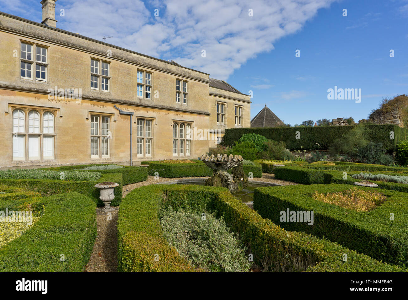 Lamport Hall, a grand 16th century stately home for the Isham family; Lamport, Northamptonshire, UK - Stock Image