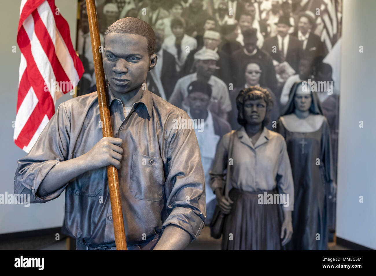 White Hall, Alabama - The Voting Rights Trail Interpretive Center tells the story of the civil rights movement and the struggle for the right to vote  - Stock Image
