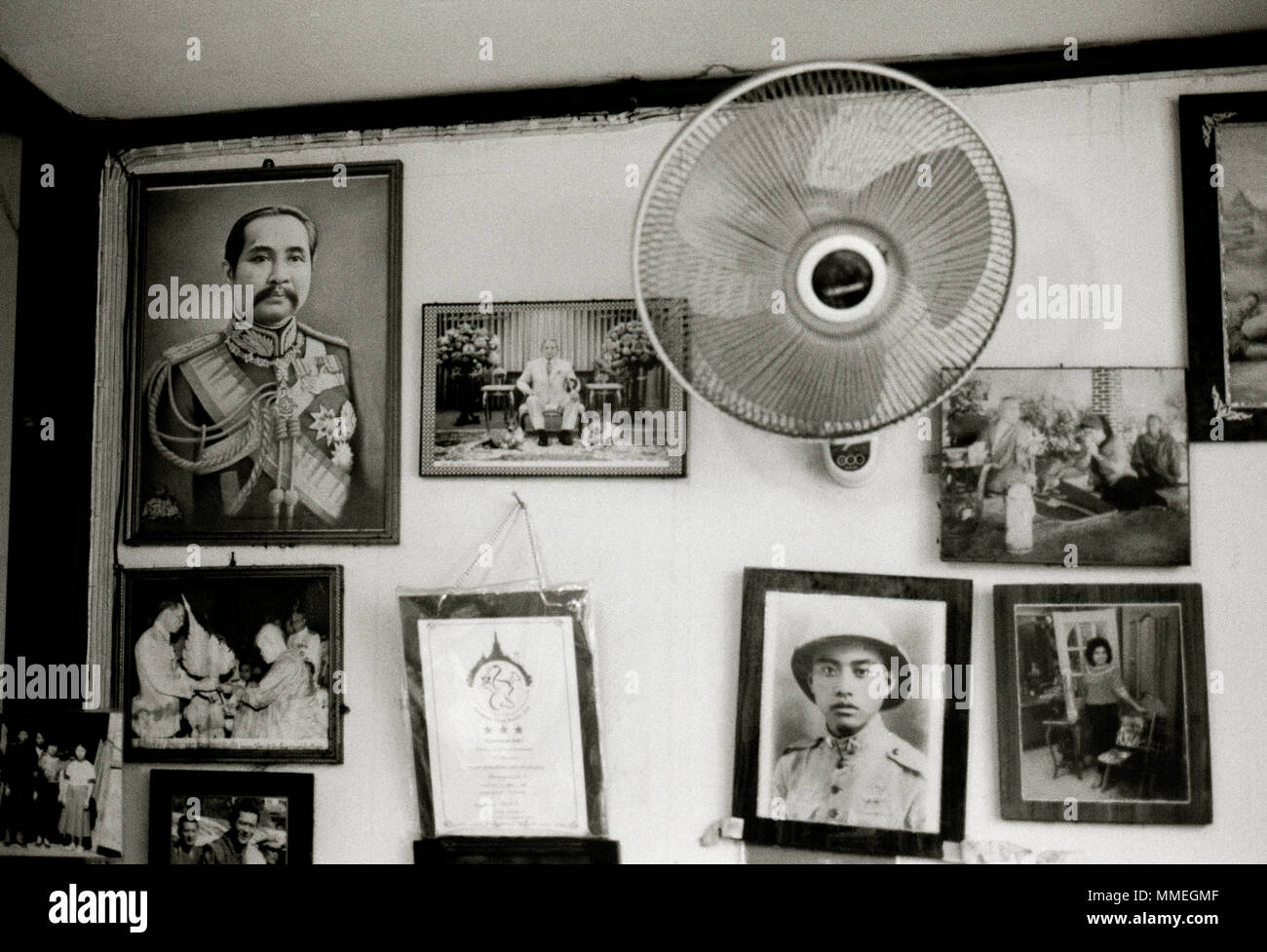 Nostalgia in Bangkok in Thailand in Southeast Asia Far East. Thai History Travel - Stock Image
