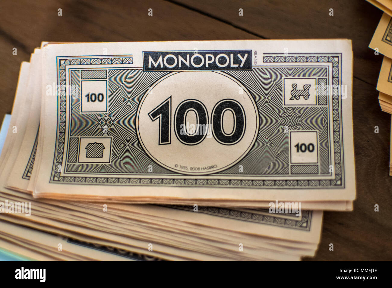 Close up of Monopoly money - Stock Image
