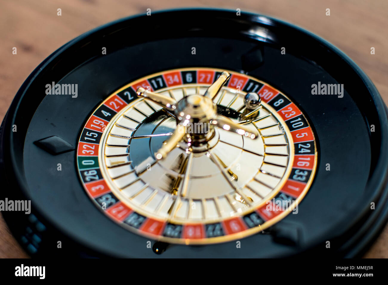 Close up of a casino roulette - Stock Image