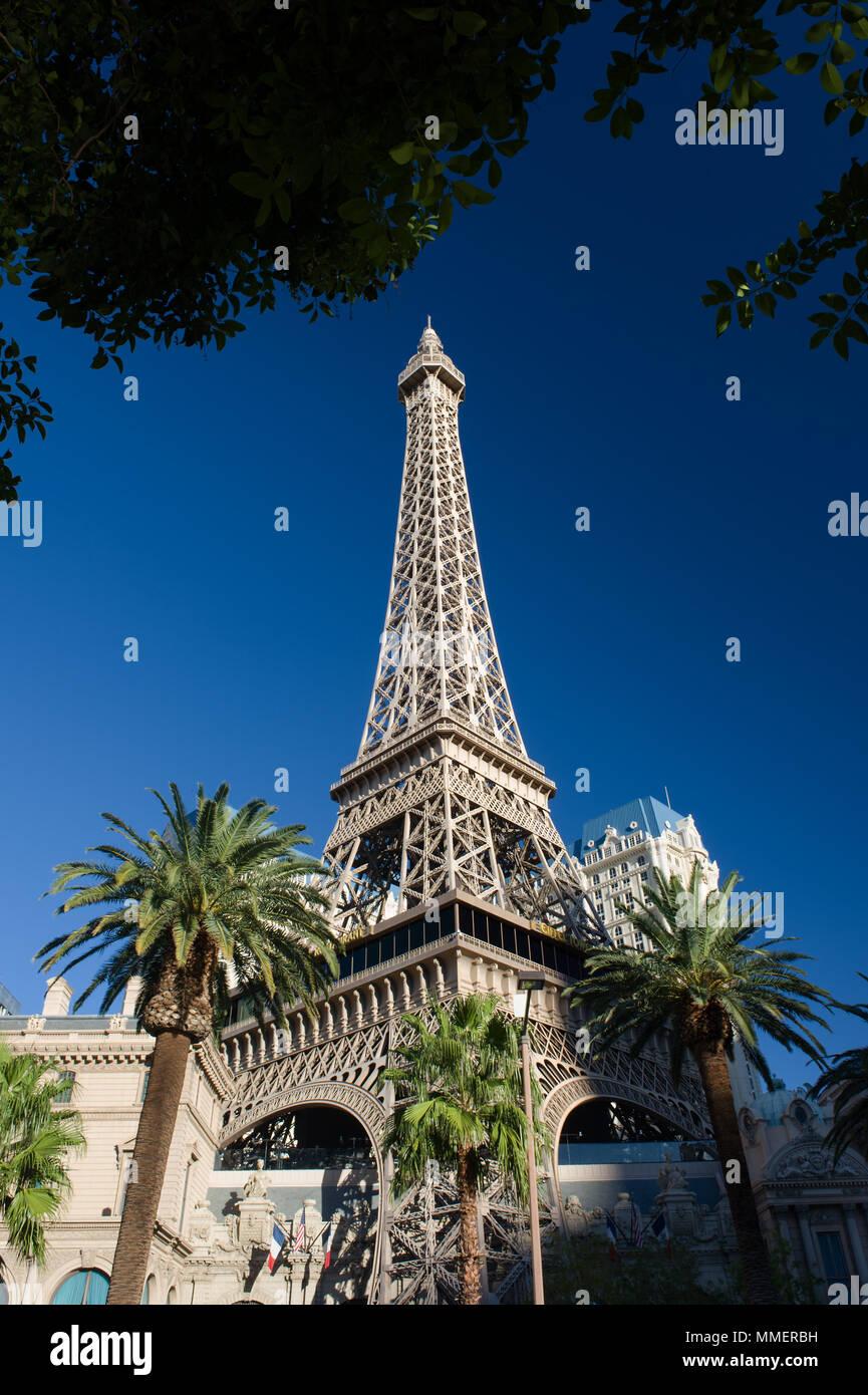 Fac simile Eiffel tower at Paris Hotel, Las Vegas, Nevada. - Stock Image