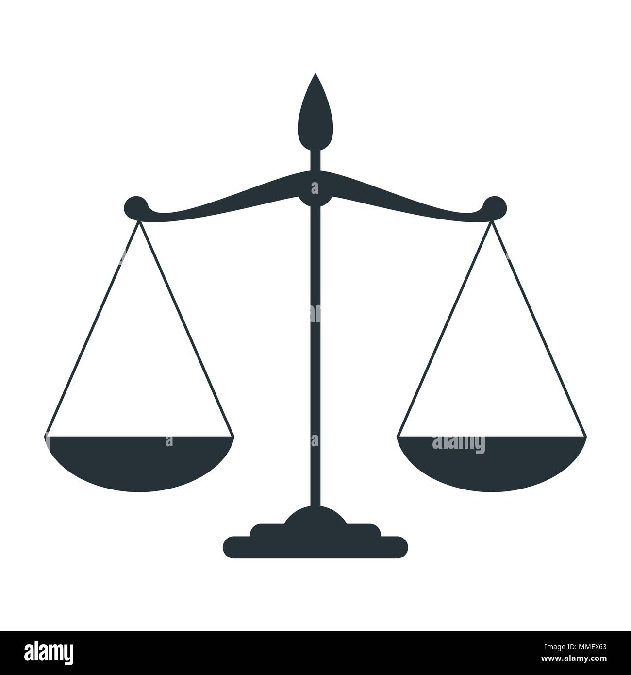 scale of justice - Stock Vector