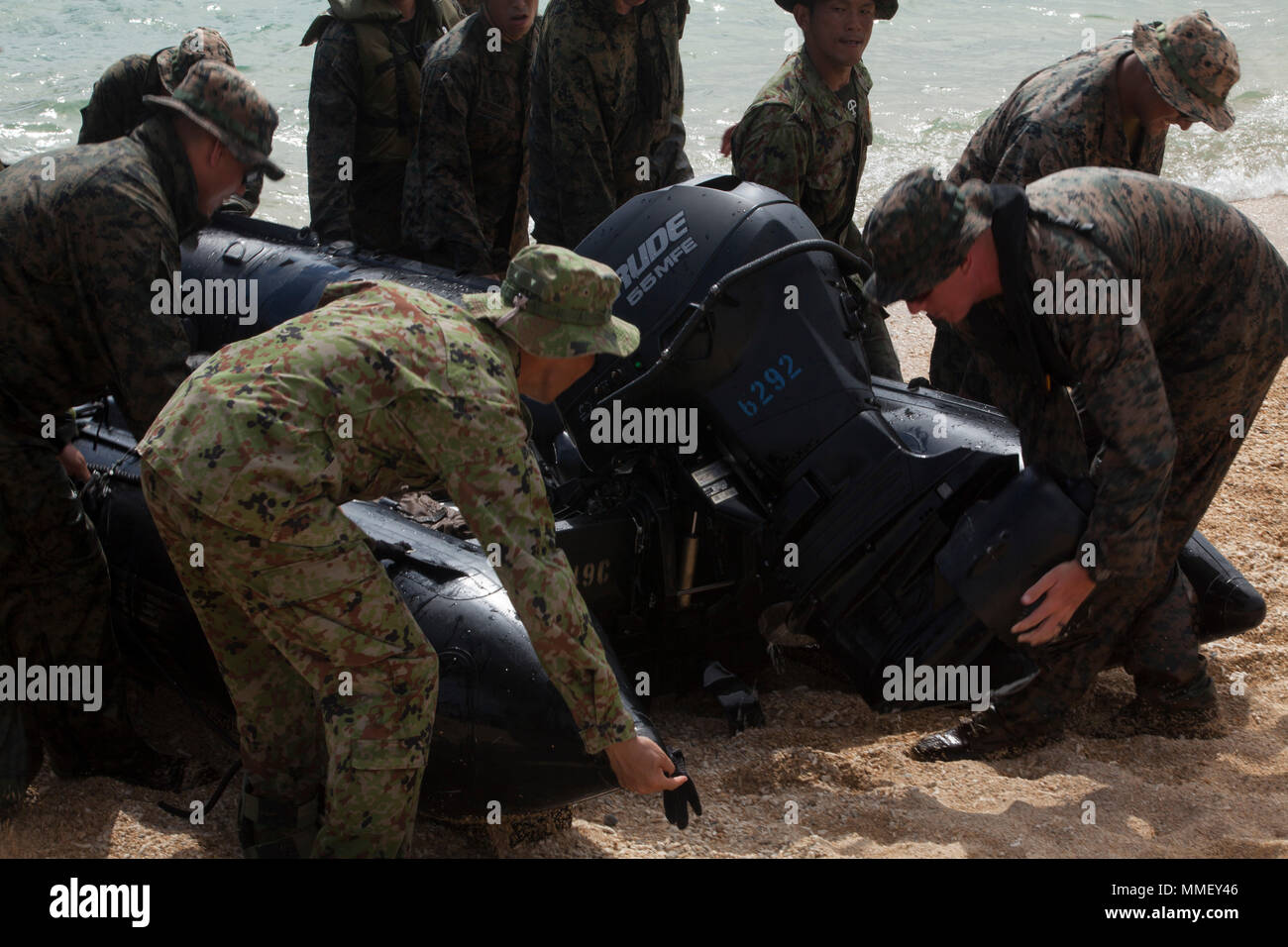 Marines With Lima Company Battalion Landing Team 3rd Battalion