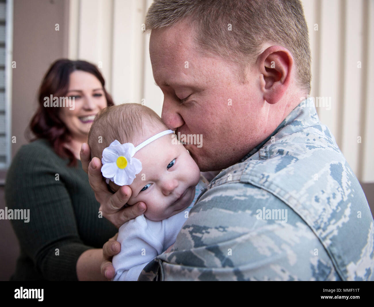 staff sgt derek schmidt 729th air control squadron meets his 4