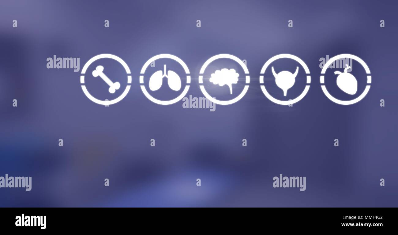 Body organs icons - Stock Image