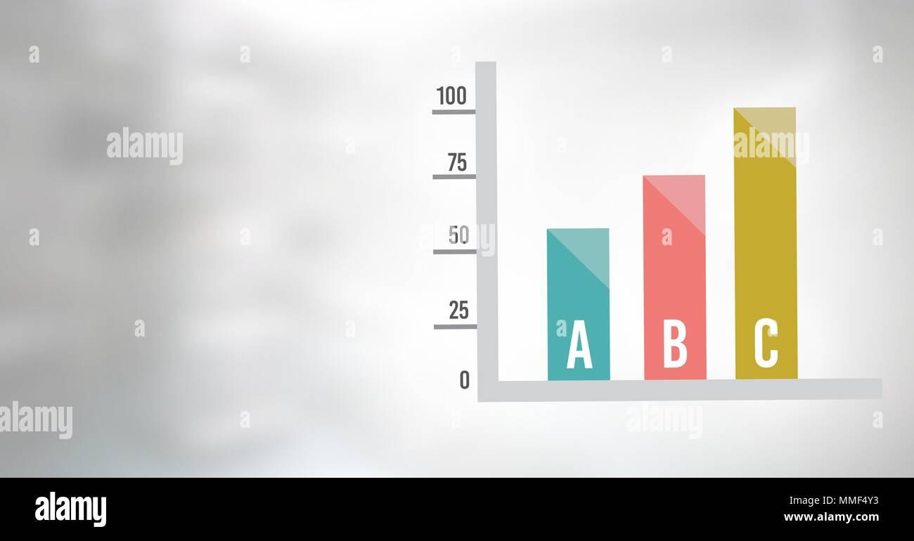 Statistic bar charts - Stock Image
