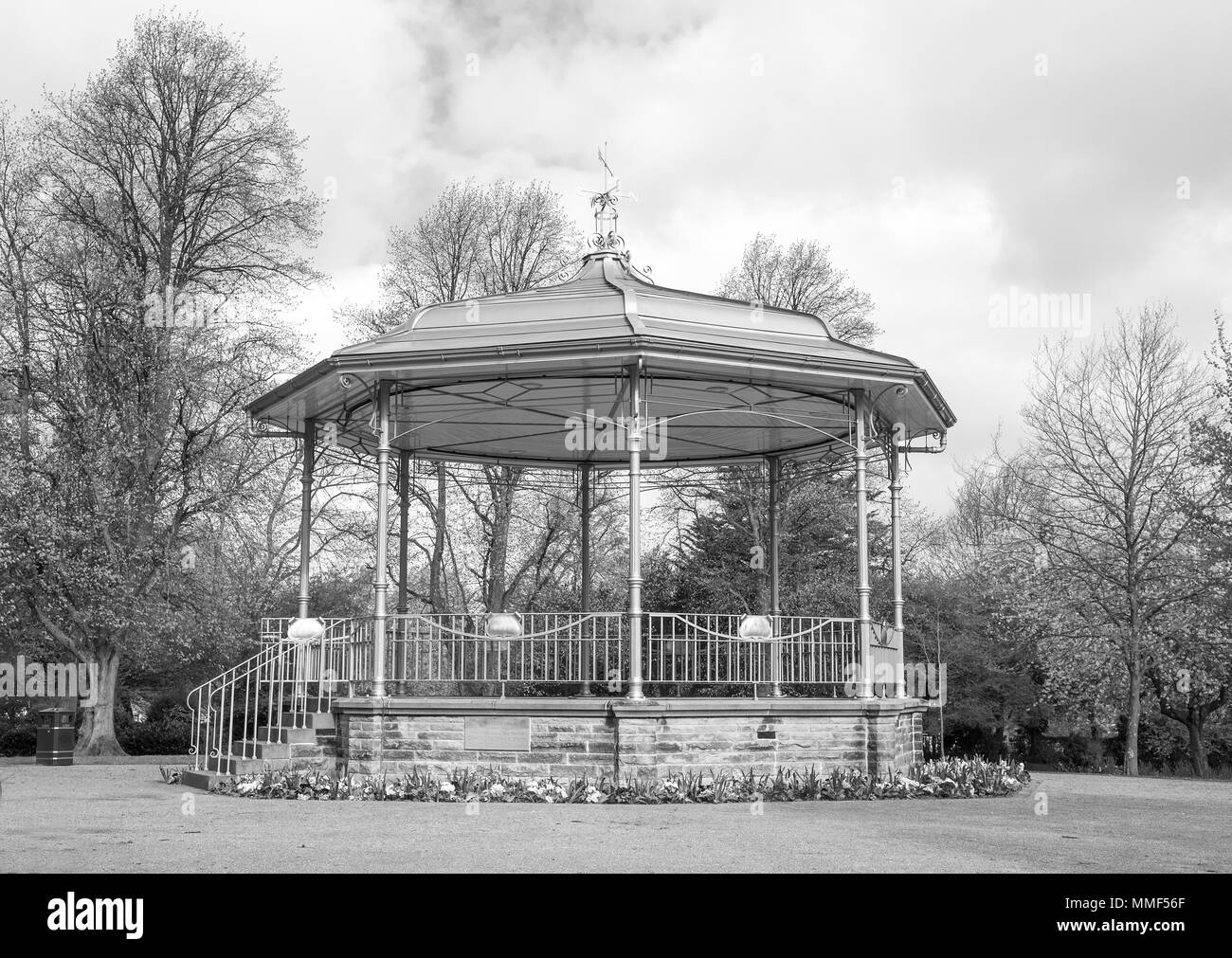 Bandstand and park ground in Ilkeston, Derbyshire, UK - Stock Image