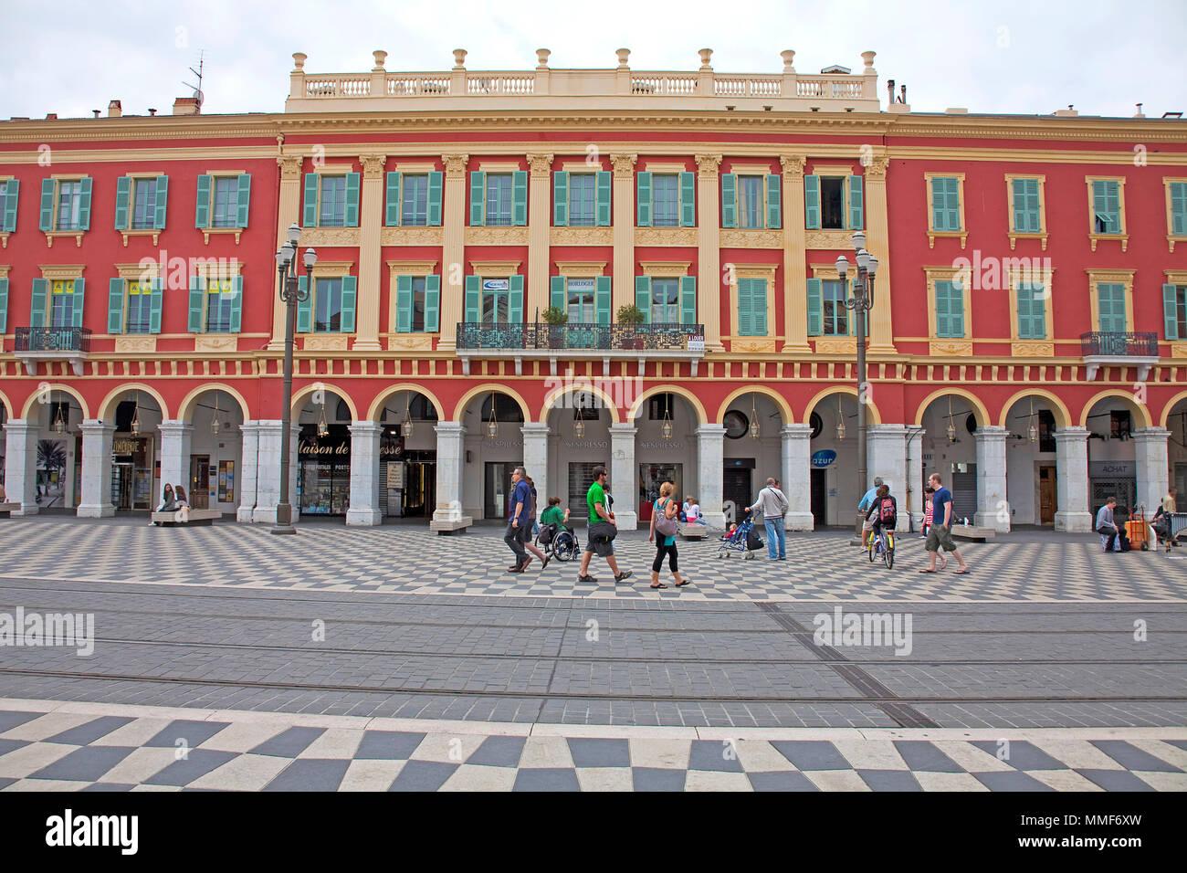 Shopping center Lafayette, Place Masséna, Nice, Côte d'Azur, Alpes-Maritimes, South France, France, Europe - Stock Image