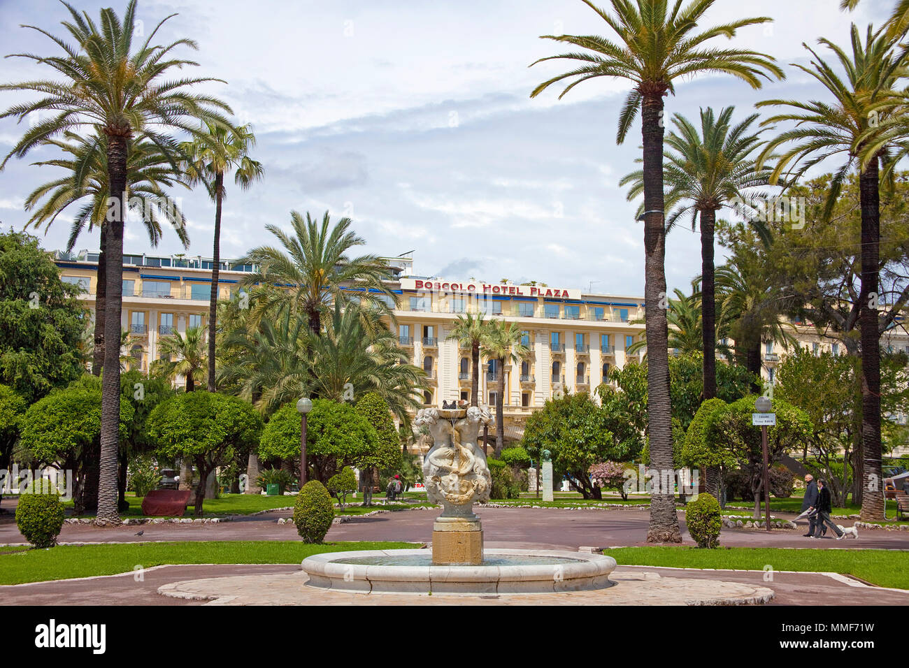 Boscolo Hotel Plaza, luxury hotel at Jardin Albert, Promenade des Anglais, Nice, Côte d'Azur, Alpes-Maritimes, South France, France, Europe Stock Photo