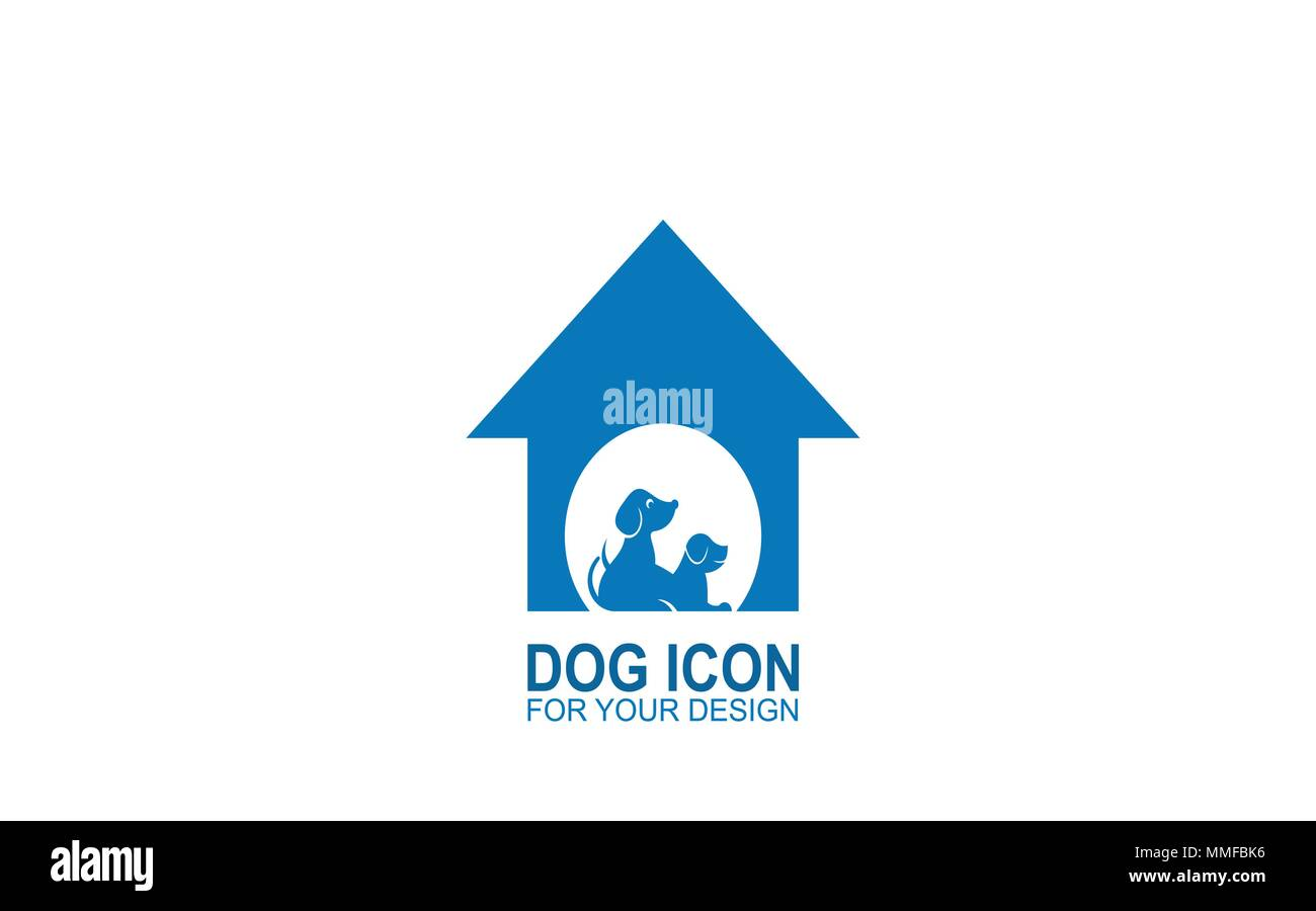 Dog home logo, home pet logotypes, vector icons. - Stock Image