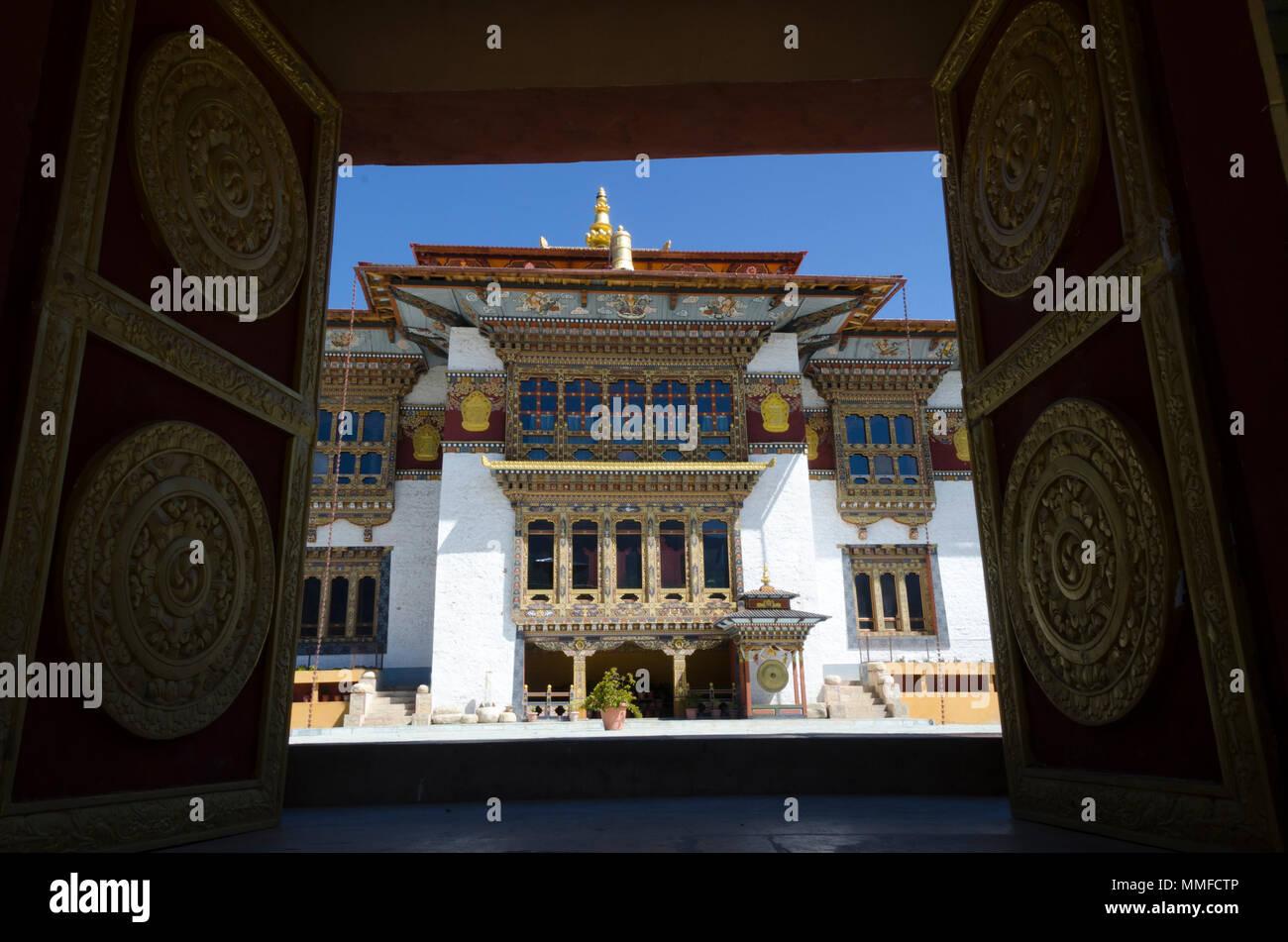 Kenchosum Lhakhang Buddhist Temple, Jakar, Bumthang, Bhutan - Stock Image