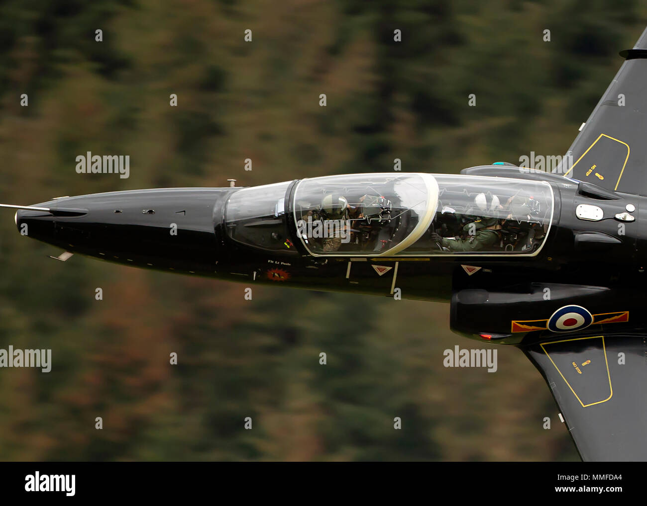 RAF Hawk low level - Stock Image