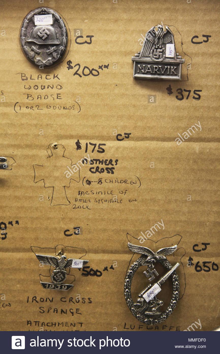 Antique World War II Nazi pins for sale Stock Photo: 184736692 - Alamy