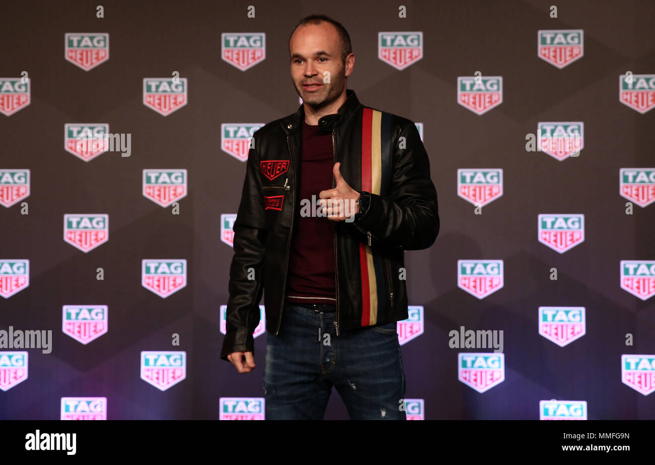 Barcelona -10th May 2018- SPAIN: Andres Iniesta during the Aston Martin Red Bull Racing TAG Heuer, in Barcelona, on 5th May 2018. Photo: Joan Valls/Urbanandsport/Cordon Press - Stock Image