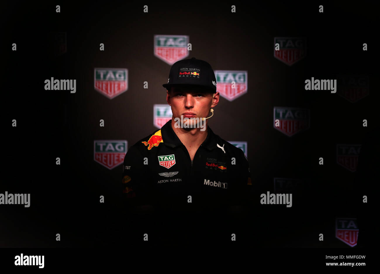 Barcelona -10th May 2018- SPAIN: Max Verstappen during the Aston Martin Red Bull Racing TAG Heuer, in Barcelona, on 5th May 2018. Photo: Joan Valls/Urbanandsport/Cordon Press - Stock Image