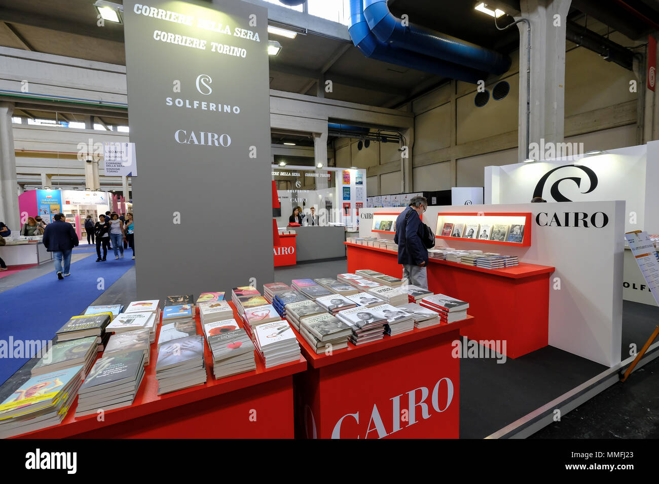Turin, Piedmont, Italy, 10th May, 2018. International Book fair 2018,first day.Cairo publisher's stand Credit: RENATO VALTERZA/Alamy Live News - Stock Image