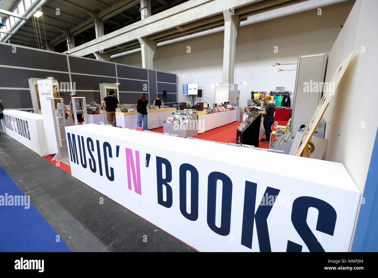 Turin, Piedmont, Italy, 10th May, 2018. International Book fair 2018,first day.Music'n' Books area Credit: RENATO VALTERZA/Alamy Live News - Stock Image